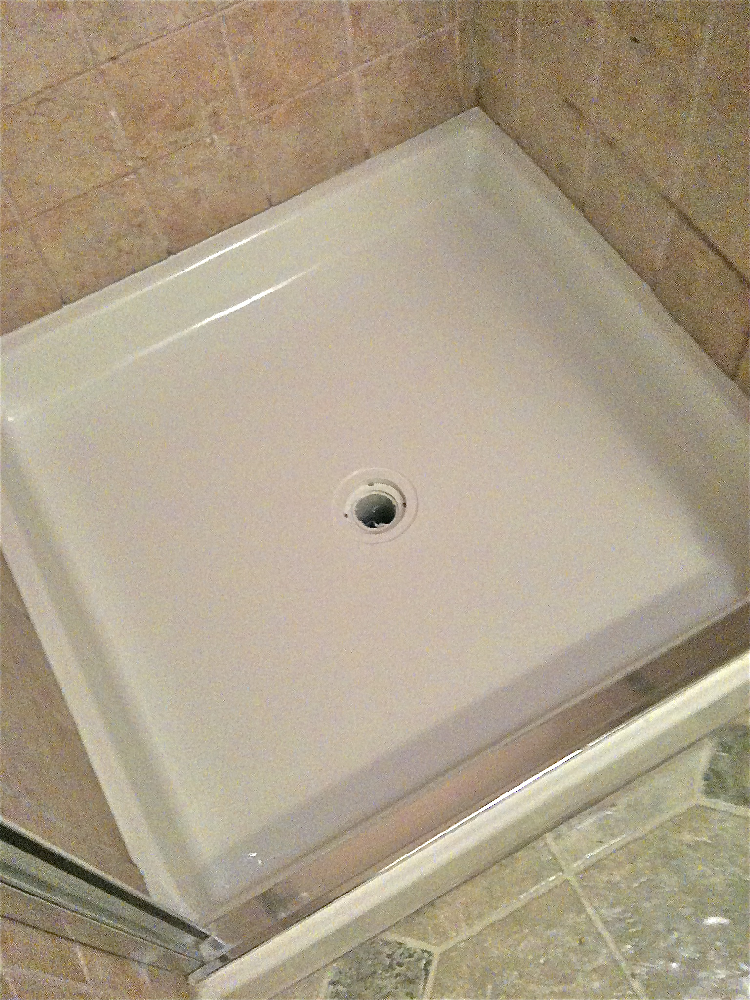 How to fix a cracked shower pan colorado tub repair img0261 dailygadgetfo Images