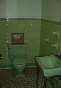 ugly green bathroom