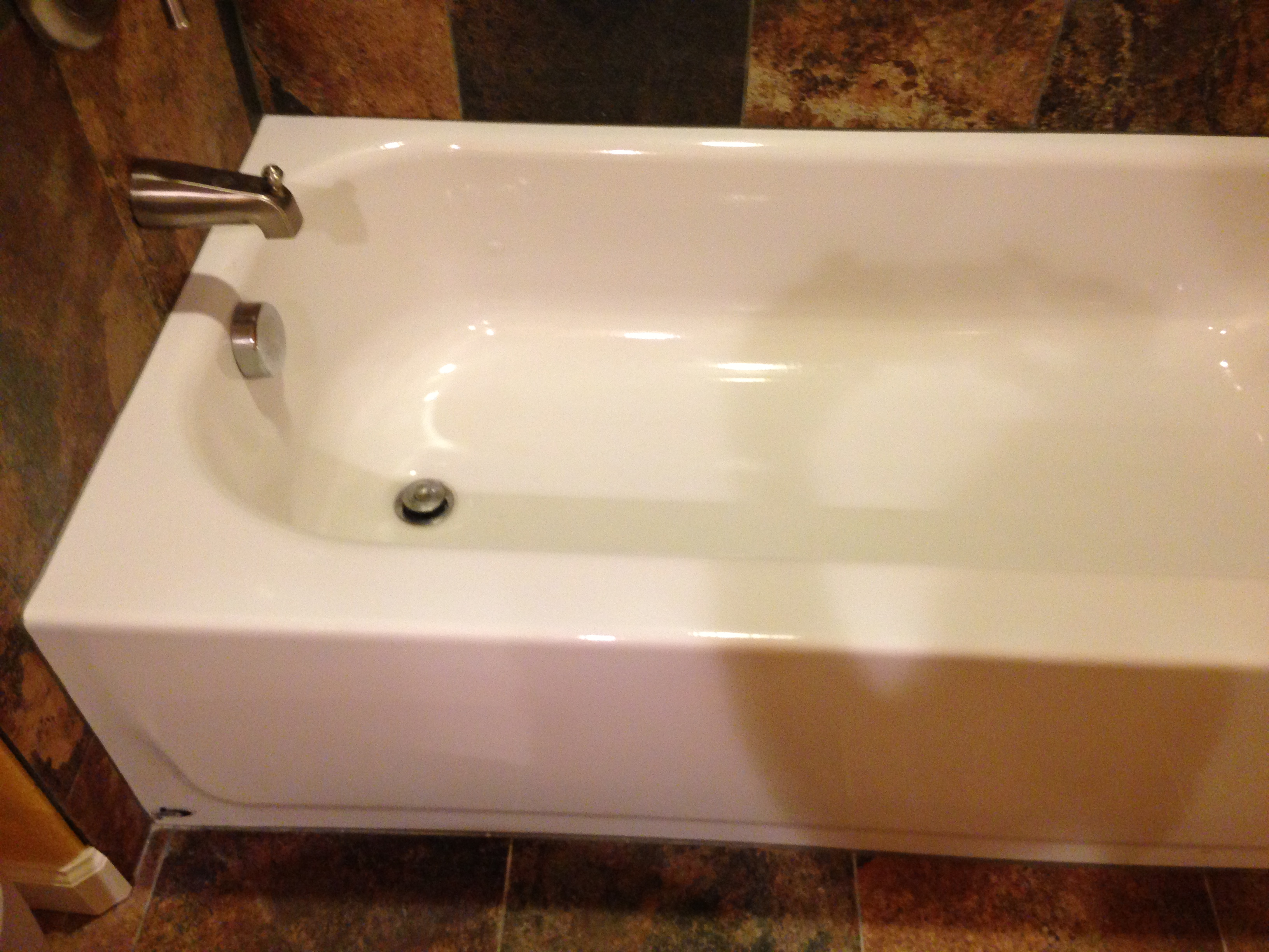 Bathroom sink chip repair - Bathtub Repaired In Colorado