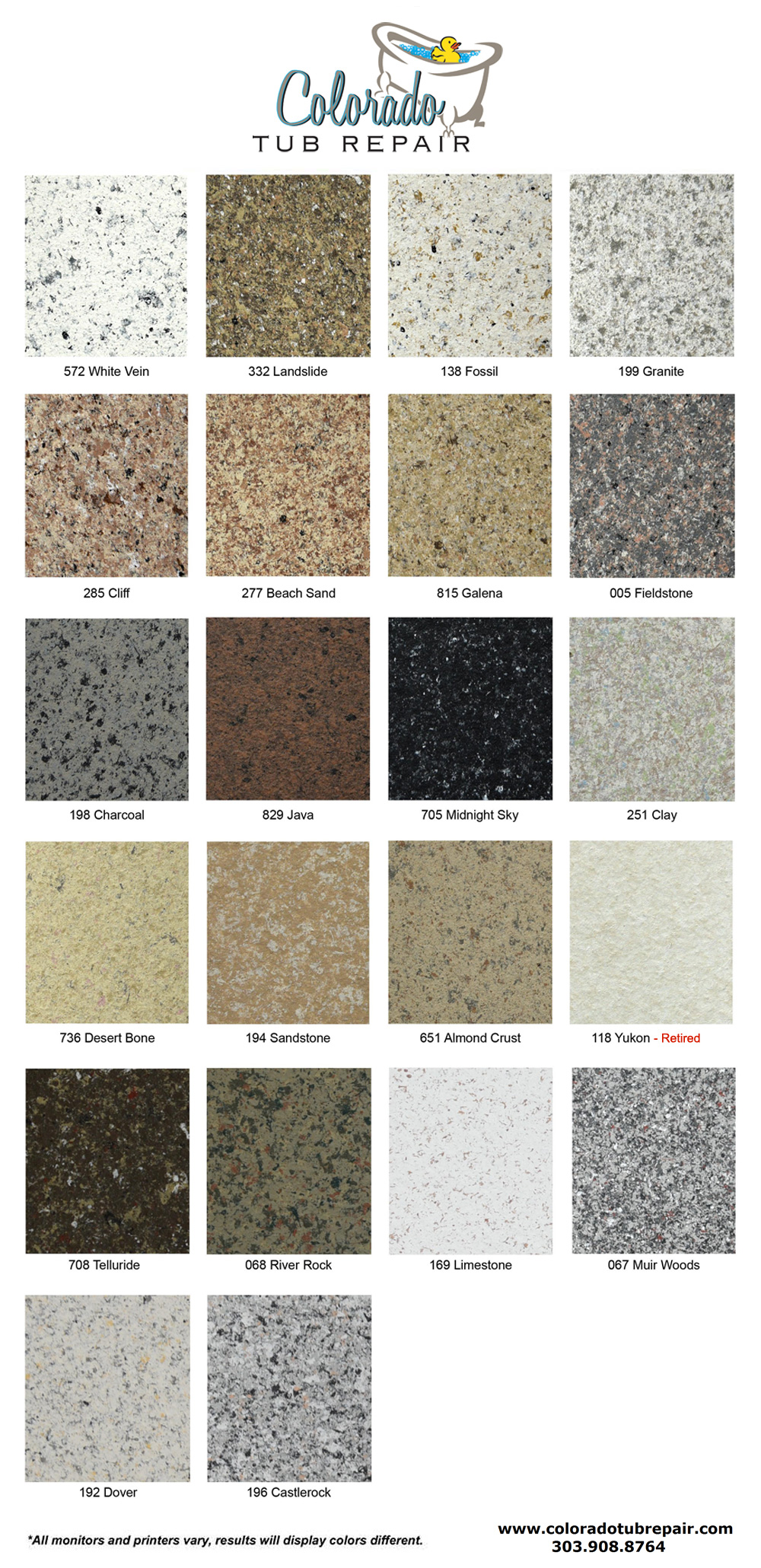 Denver countertop refinishing for bathrooms kitchens click here to view our color chart nvjuhfo Choice Image